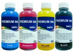 Tusze InkTec Pigment do drukarek Epson WorkForce Pro - komplet 4x100 ml.