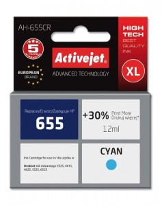 Tusz Activejet zamiennik do HP 655 (CZ110AE) - Cyan (12 ml)