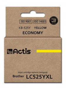 Tusz Actis zamiennik do Brother LC525Y (KB-525Y) - Żółty (15 ml)