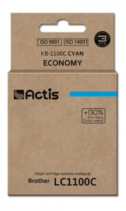 Tusz Actis zamiennik do Brother LC1100/980C (KB-1100C) - Cyan (19 ml)