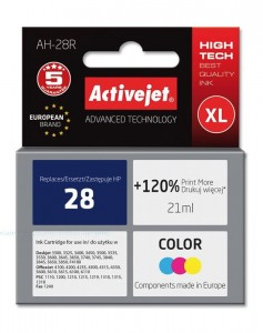 Tusz Activejet zamiennik do HP 28 C8727A (AH-28R) - Kolor C-M-Y (21 ml)