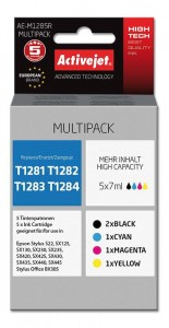 Tusze Activejet Premium do Epson T1285 (T1281, T1282, T1283, T1284) - Multipack