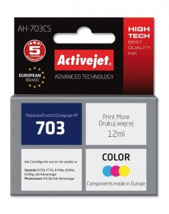 Tusz Activejet zamiennik do HP 703 (CD888AE) - Kolorowy (12 ml)