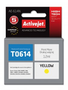 Tusz Activejet do Epson T0614 - Żółty (12 ml)