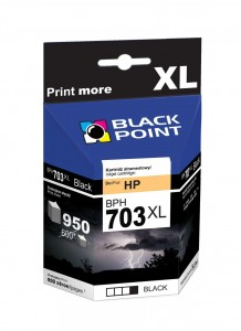 Tusz Black Point zamiennik do HP 703 (CD887AE) - Czarny (24,5 ml, 950 stron)