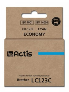 Tusz Actis zamiennik do Brother LC123C (KB-123C) - Cyan (10 ml)