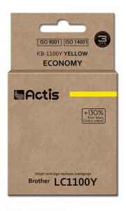 Tusz Actis zamiennik do Brother LC1100/980Y (KB-1100Y) - Żółty (19 ml)
