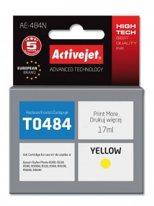 Tusz ActiveJet do Epson T0484 - Żółty (17 ml)