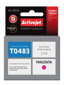 Tusz ActiveJet do Epson T0483 - Magenta (17 ml)