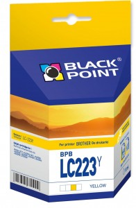 Tusz Black Point do Brother LC223Y - Żółty (10 ml)