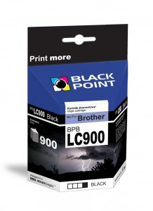 Tusz Black Point do Brother LC900BK - Czarny (17,3 ml)