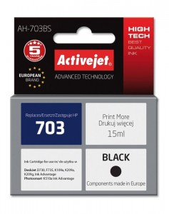 Tusz Activejet zamiennik do HP 703 (CD887AE) - Czarny (16 ml)