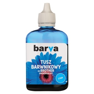 Tusz Barva do Brother LC-1000 - Cyan 90 ml.