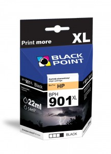 Tusz Black Point zamiennik do HP 901XL (CC654AE) - Czarny (22 ml)