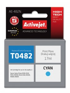 Tusz ActiveJet do Epson T0482 - Cyan (17 ml)