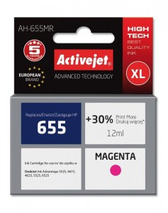 Tusz Activejet zamiennik do HP 655 (CZ111AE) - Magenta (12 ml)