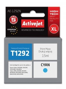 Tusz Activejet do Epson T1292 - Cyan (15 ml)