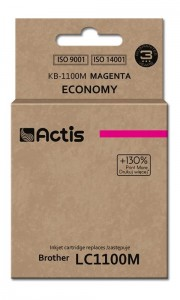 Tusz Actis zamiennik do Brother LC1100/980M (KB-1100M) - Magenta (19 ml)