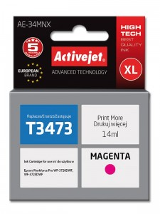Tusz ActiveJet zamiennik do Epson T3473 - Magenta (14 ml)