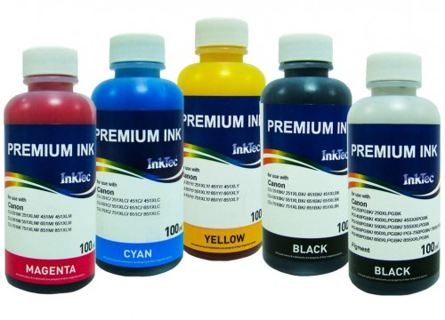 Tusze InkTec do Canon Pixma PGI-520/CLI-521 - 5x100 ml.