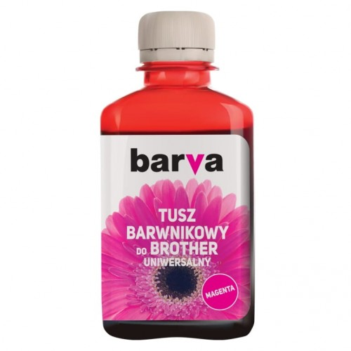Tusz Barva magenta do Brother 180 ml. - przód