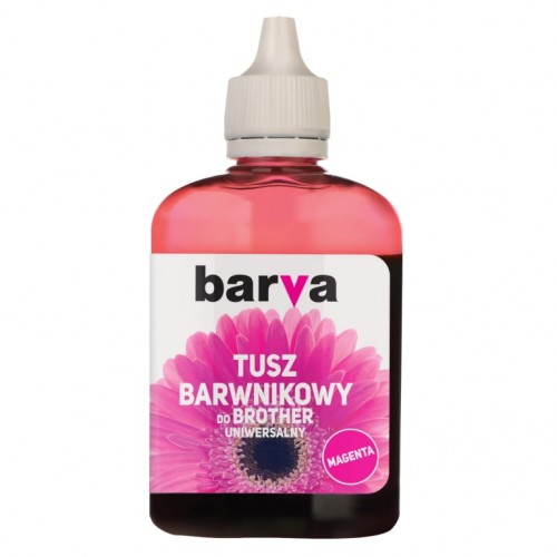 Tusz Barva magenta do Brother 90 ml. - przód